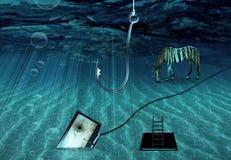Escena subacuática de la fantasía Fotografía de archivo libre de regalías