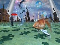 Escena surrealista libre illustration