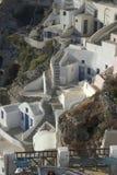 Escena típica de la isla griega de Santorini Fotos de archivo