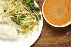 Escena tailandesa de la comida imágenes de archivo libres de regalías
