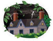 Escena tempestuosa de la noche Stock de ilustración