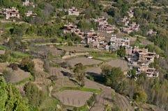 Escena tibetana de la aldea Foto de archivo