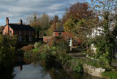 Escena tranquila del pueblo, Warwickshire Fotos de archivo