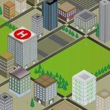 Escena tridimensional de la ciudad Fotos de archivo