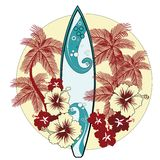 Escena tropical libre illustration