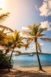 Escena tropical de la playa Foto de archivo libre de regalías