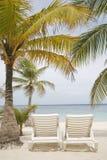 Escena tropical de la playa fotos de archivo