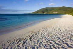 Escena tropical de la playa Imagen de archivo libre de regalías