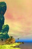 Escena tropical hermosa fotografía de archivo libre de regalías