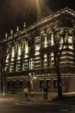 Escena urbana de la noche de Montevideo Foto de archivo