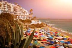 Escena urbana de la playa Fotos de archivo libres de regalías
