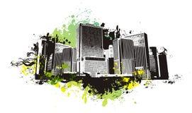 Escena urbana del vector Fotografía de archivo libre de regalías