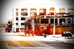 Escena urbana en Chicago Imagen de archivo
