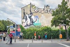 Escena urbana en Kreuzberg, Berlín Fotos de archivo libres de regalías