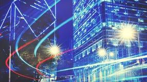Escena urbana Hong Kong Built Structure Concept Fotos de archivo libres de regalías