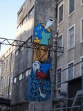 Escena urbana próspera del arte de la pintada y de la calle en Lisboa, Portugal, 2014 Fotos de archivo libres de regalías