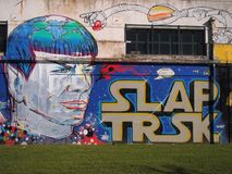Escena urbana próspera del arte de la pintada y de la calle en Lisboa, Portugal, 2014 Fotografía de archivo