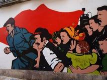 Escena urbana próspera del arte de la pintada y de la calle en Lisboa, Portugal, 2014 Fotos de archivo