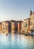 Escena veneciana de Grand Canal, Italia Imágenes de archivo libres de regalías