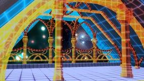 Escena virtual de la noche libre illustration