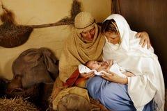 Escena viva de la natividad de la Navidad Imagen de archivo