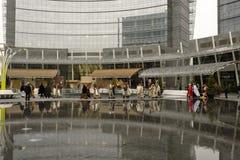 Escena viva de la natividad en el eje del asunto, Milano, #01 Fotografía de archivo
