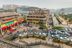 Escena Xi'an China de la calle Fotos de archivo