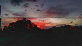 Escenario hermoso de la puesta del sol Fotografía de archivo libre de regalías