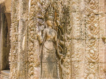Escenas camboyanas 4 del templo Foto de archivo libre de regalías