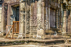 Escenas camboyanas 5 del templo Imagen de archivo
