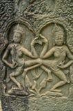 Escenas camboyanas del templo Fotografía de archivo