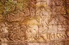 Escenas camboyanas 11 del templo Imagen de archivo libre de regalías