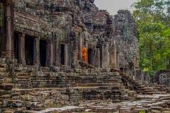Escenas camboyanas 12 del templo Foto de archivo
