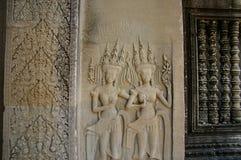 Escenas camboyanas 1 del templo Fotografía de archivo