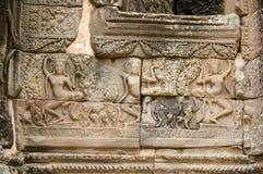 Escenas camboyanas 13 del templo Imágenes de archivo libres de regalías
