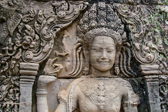 Escenas camboyanas 17 del templo Foto de archivo
