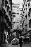 Escenas de la calle de Spaccanapoli Fotos de archivo libres de regalías