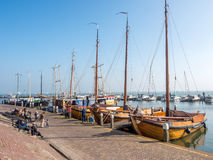 Escenas de la ciudad de Volendam Imagenes de archivo