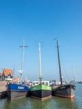 Escenas de la ciudad de Volendam Fotos de archivo libres de regalías