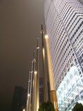 Escenas de la noche de Hong-Kong de IFC Foto de archivo libre de regalías