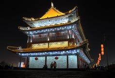 Escenas de la noche de la torre del tambor Fotos de archivo libres de regalías