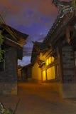 Escenas de la noche de Lijiang Imagen de archivo libre de regalías