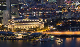 Escenas de la noche de Singapur Foto de archivo libre de regalías