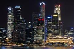 Escenas de la noche de Singapur Fotos de archivo libres de regalías