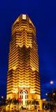 Escenas de la noche del banco del público de Menara fotos de archivo libres de regalías