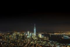 Escenas de la noche del World Trade Center Imagen de archivo libre de regalías