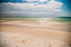 Escenas de la noche en la playa de la Florida Fotografía de archivo