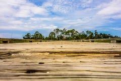 Escenas de la playa de la isla de la caza Fotografía de archivo libre de regalías