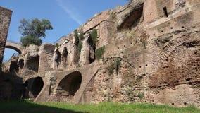 Escenas de las ruinas en la colina de Palatine en Roma (4 de 7) almacen de video