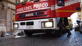 Escenas de un Firetruck del italiano (4 de 7) almacen de metraje de vídeo